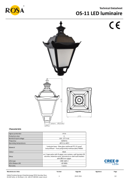 Technical Datasheet OS-11 LED luminaire