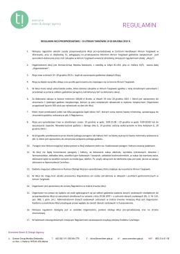 CH ATRIUM TARGÓWEK 19-20 GRUDNIA 2015 R. 1. Niniejszy