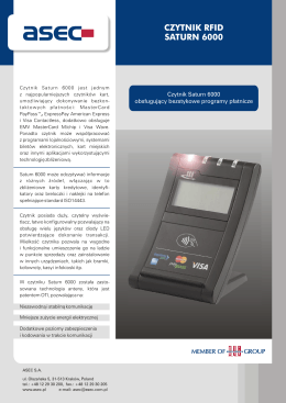CZYTNIK RFID SATURN 6000