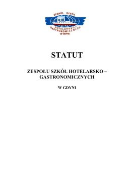 Statut szkoły - Zespół Szkół Hotelarsko Gastronomicznych w Gdyni