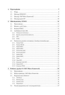 1. Wprowadzenie 2. Mikrokontrolery STM32 3. Podstawy języka C#