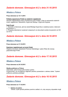 Zadanie domowe. Gimnazjum kl.2 z dnia 31.10.2015 Zadanie