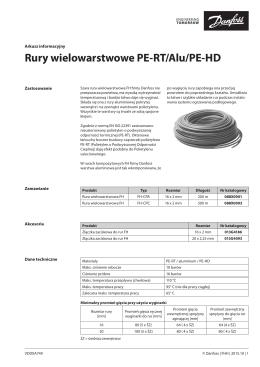 Rury wielowarstwowe PE-RT/Alu/PE-HD