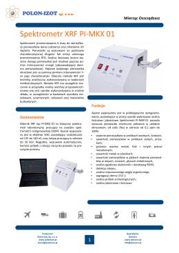 Spektrometr XRF PI-MKX 01