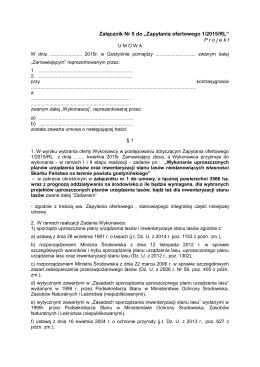 Projekt umowy