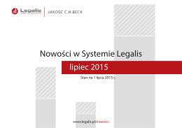 Nowości w Systemie Legalis