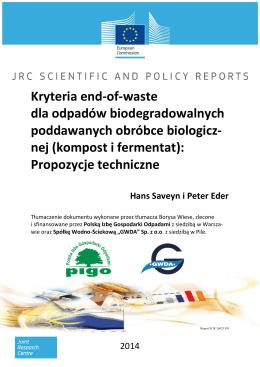 Kryteria end-of-waste dla odpadów biodegradowalnych