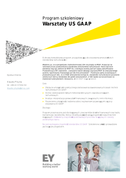 Warsztaty US GAAP - Ernst & Young Academy of Business