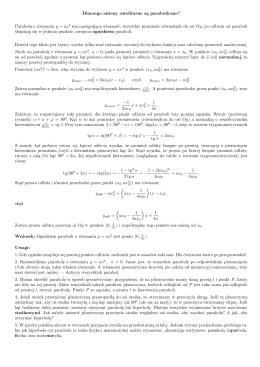 Parabola o równaniu y = ax2 ma następującą własność: wszystkie