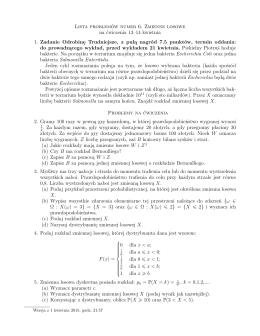 Lista problemów numer 6. Zmienne losowe na ćwiczenia 13–14