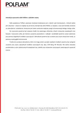 Instrukcja czyszczenia szkła Polflam z udziałem satyny Szkło