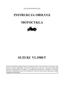 instrukcja obsługi motocykla suzuki vl1500/t