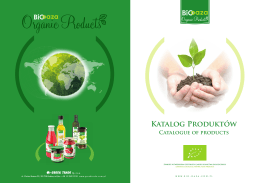 Katalog Produktów Catalogue of products