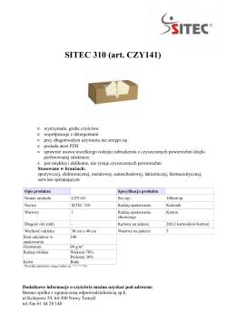 SITEC 310 kartonik 30x40 - pdf