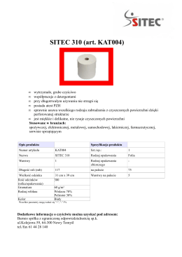 SITEC 310 Rolka 31-117 - pdf