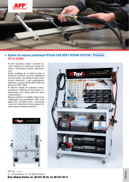 System do napraw panelowych NTools CAR BODY REPAIR