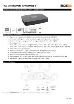 Karta Katalogowa BCS-DVR0401MES(-II)_BCS - E