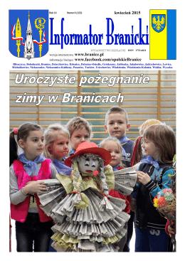kwiecień 2015 - Gmina Branice