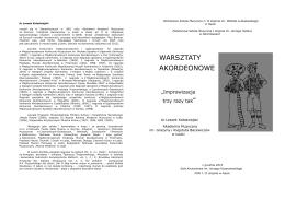 Program warsztatów - Państwowa Szkoła Muzyczna I i II st. im. W