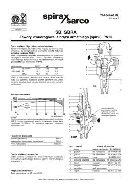 SB, SBRA - Spirax Sarco