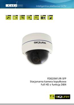 FD820M1/IR-SFP Stacjonarna kamera kopułkowa Full HD z funkcją