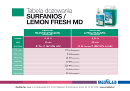SURFANIOS / LEMON FRESH MD
