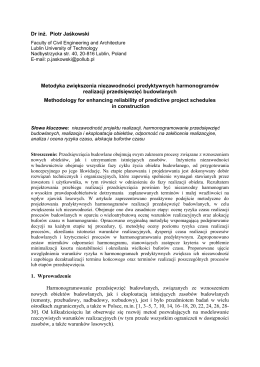 Dr inż. Piotr Jaśkowski Metodyka zwiększenia niezawodności