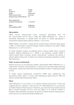 Kraj: Polska Projekt nr.: 47287 Sektor: bankowość Publiczny