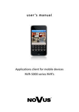 user`s manual Applications client for mobile devices NVR