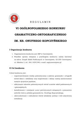 vi ogólnopolskiego konkursu gramatyczno