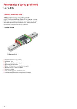 Katalog prowadnic i wózków miniaturowych