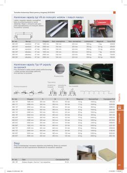 Załadunek Aluminiowe najazdy typ VR do motocykli, wózków i