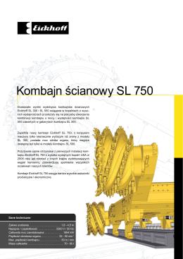 Kombajn ścianowy SL 750