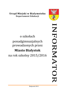 Informator 2015-2016