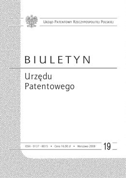 bup19_2008 - Wyszukiwarka Urzędu Patentowego