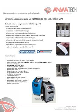 agregat do obsługi układu a/c ecotechnics eck 1800 - Anwa-Tech