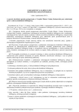 Zarzadzenie Nr Or.0050.112.2015 z dnia 1 pazdziernika 2015 r.