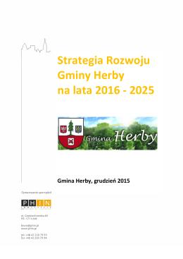 Projekt strategii rozwoju Gminy Herby