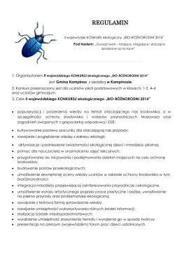 REGULAMIN - Kampinos, Urząd Gminy