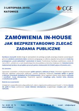 ZAMÓWIENIA IN-HOUSE - Certified Global Education