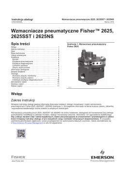 Wzmacniacze pneumatyczne Fisherr 2625 i 2625NS