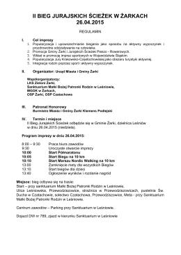ii bieg jurajskich ścieżek w żarkach 26.04.2015