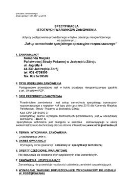 siwz z załącznikami - KM PSP Jastrzębie Zdrój