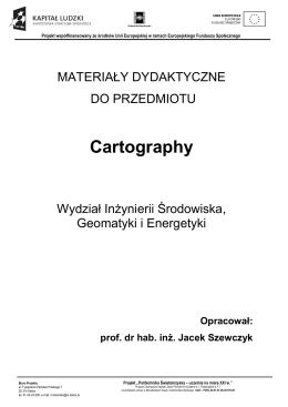 Cartography - wydział inżynierii środowiska, geomatyki i energetyki