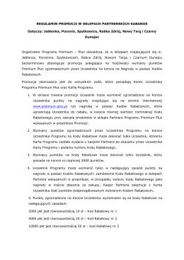 Regulamin promocji - Kabanos