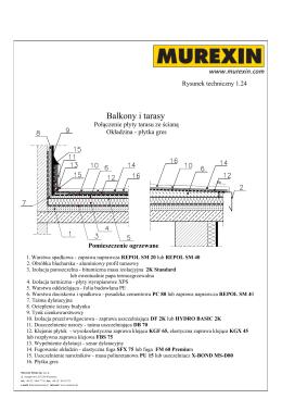 1-24 - Balkony i tarasy - Połączenie płyty tarasu ze ścianą