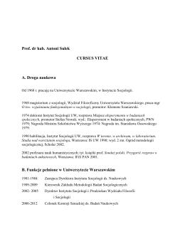 cv – plik pdf - Instytut Socjologii UW