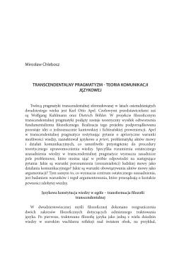 18 Mirosław Chlebosz.indd - Zakład Teorii i Filozofii Komunikacji