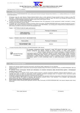 Regulamin promocji - Telewizja Kablowa Świdnik