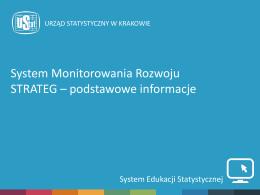 System Monitorowania Rozwoju STRATEG